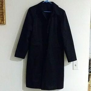 Black trech coat